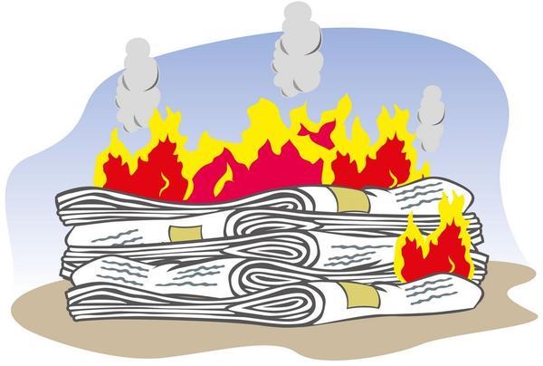 Сжигание должно производиться максимально далеко от построек, сухой растительности и горючих материалов