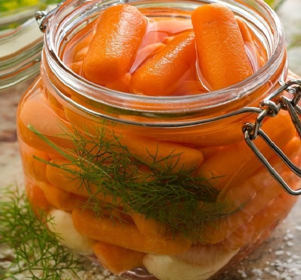 Маринованная морковка хороша