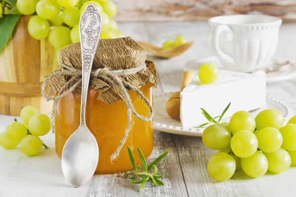 Виноградное варенье с грушами