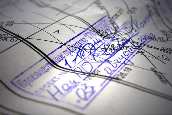 Штамп согласования на проектной документации