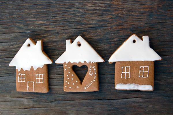 Очень простые пряничные домики