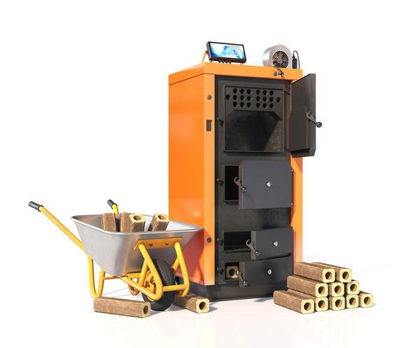 Твердотопливный котёл для использования дров или топливных брикетов