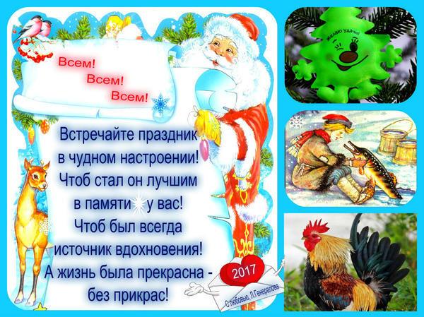 Поздравляю всех семидачников с Новым Годом!