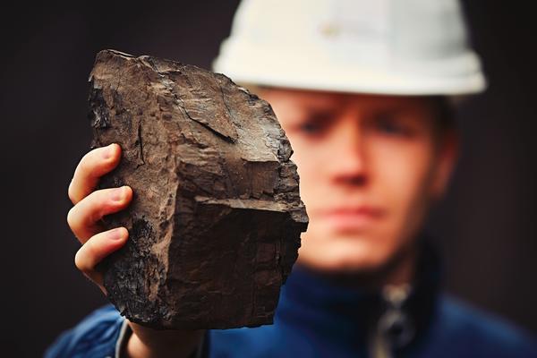Кусок бурого угля