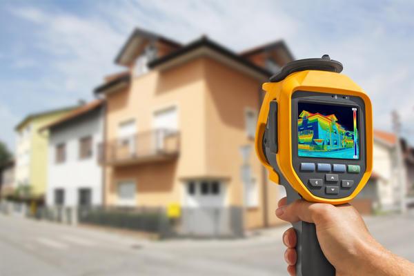 Оценка теплопотерь здания на экране тепловизора