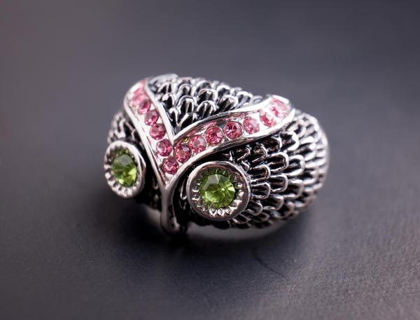 Кольцо-сова - оригинальное украшение