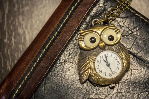 Часы-сова - для тех, кто любит точность и пунктуальность