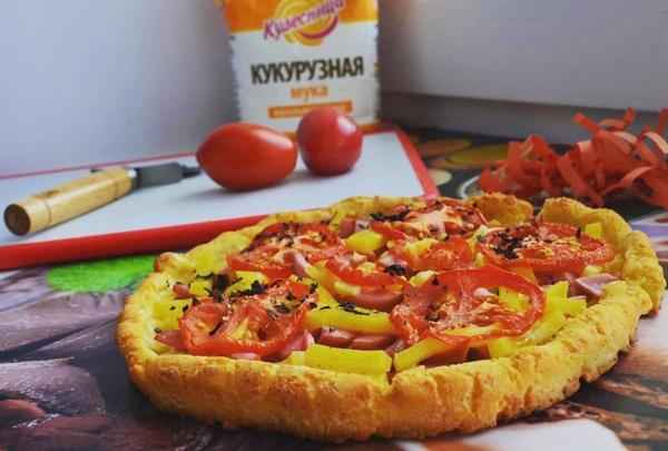Пицца на кукурузной муке