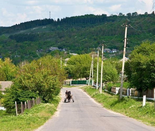 дорога в селе, где у меня дача