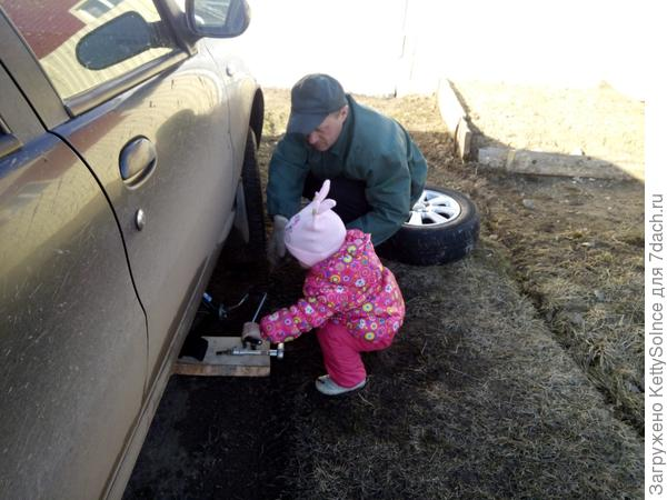 меняем колеса на машине