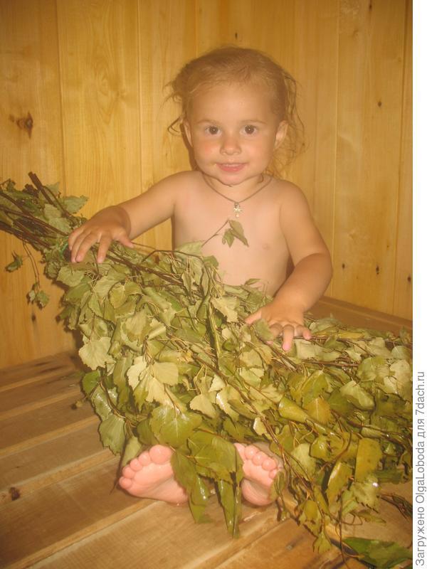 Попарим пяточки березовым веничком