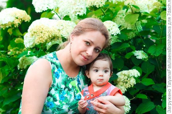 Алина с мамой