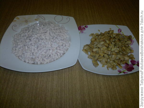 грибы и курица