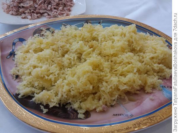 1 слой картофель