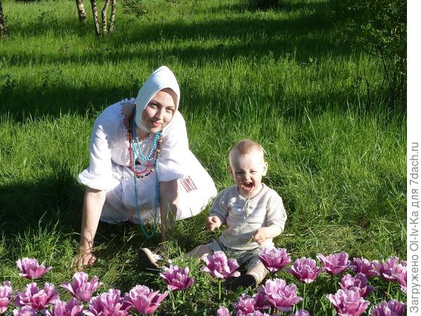 Костя с мамой