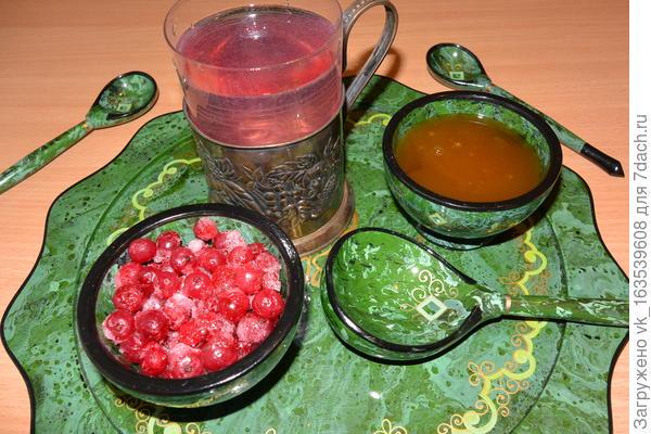чай с калиной и медом