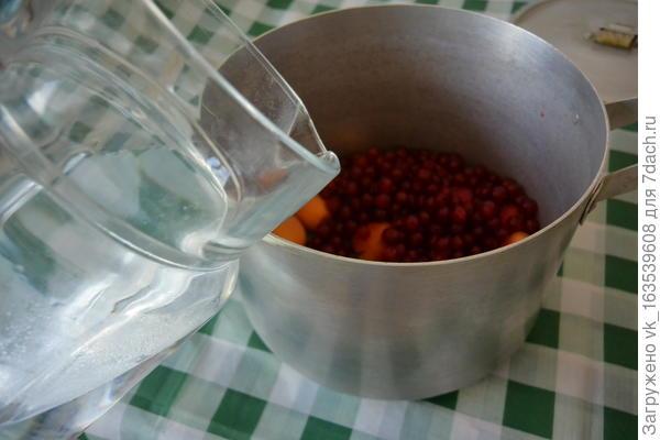 Компот из абрикосов, красной смородины и вишни - пошаговый рецепт приготовления с фото