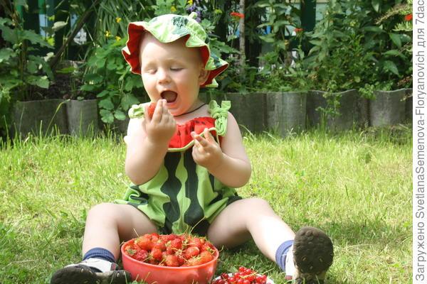 Дениска и ягодки.