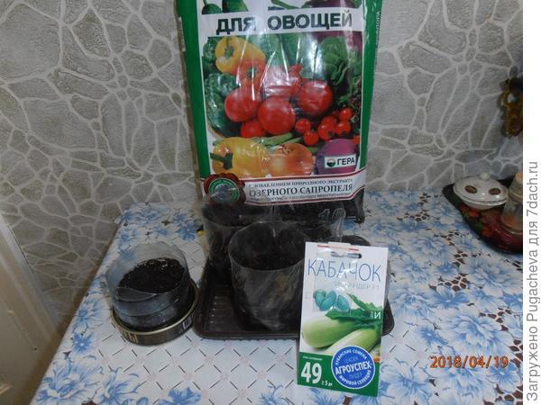 земля для рассады,пакет с семенами и описание сорта