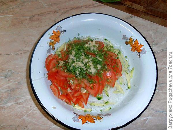 Сложенные овощи