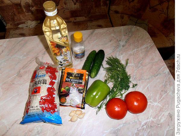 Продукты для приготовления фунчозы