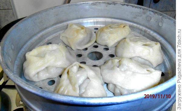 Манты по-азиатски - пошаговый рецепт приготовления с фото