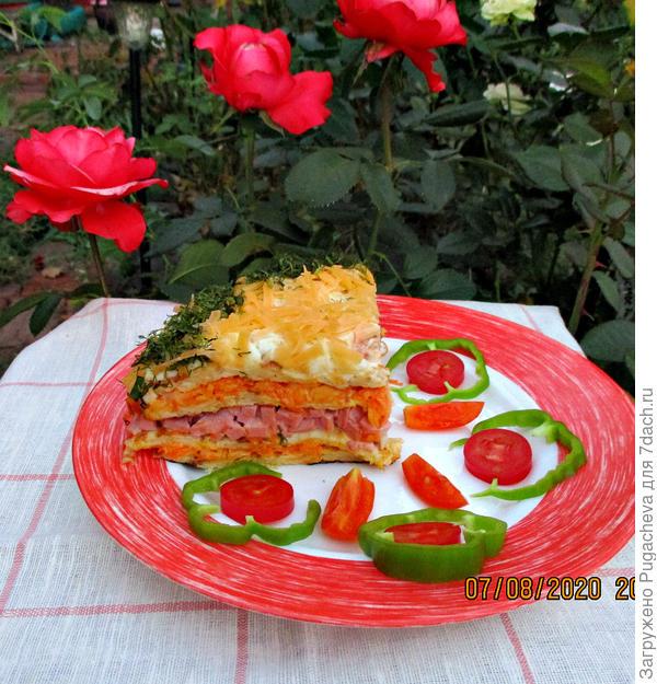 Красивое и вкусное блюдо.