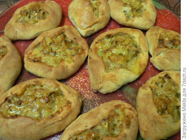 тесто Зульфиры, начинка -овощи