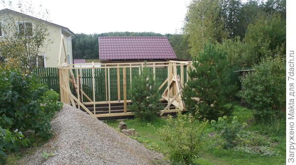 Строительство зимнего домика