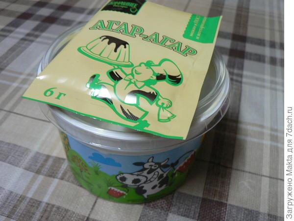 Пакетик агар-агара и натуральные сливки