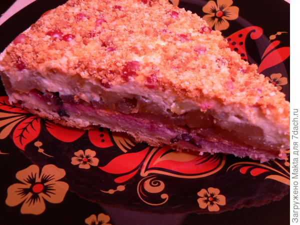 Грушево-сливочный торт