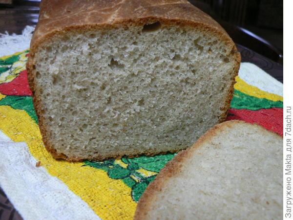 хлеб на хмелевой закваске из печки