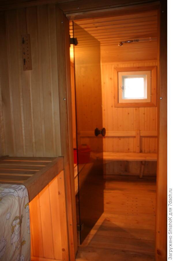 Дверь из парилки - в мыльное отделение