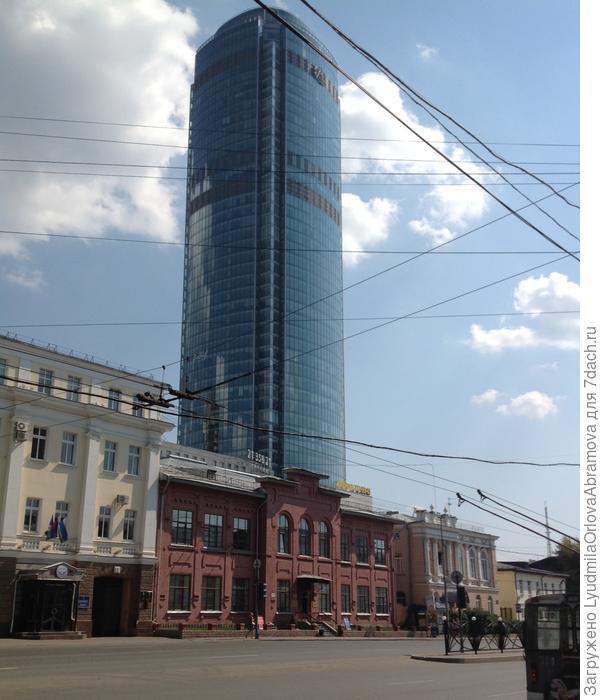 вид на небоскреб Высоцкий