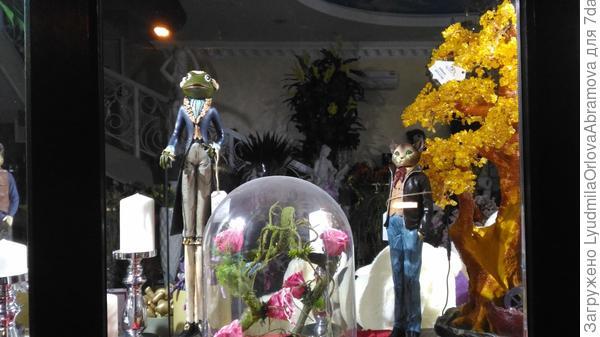 Витрина цветочного магазина. Сказка продолжается...