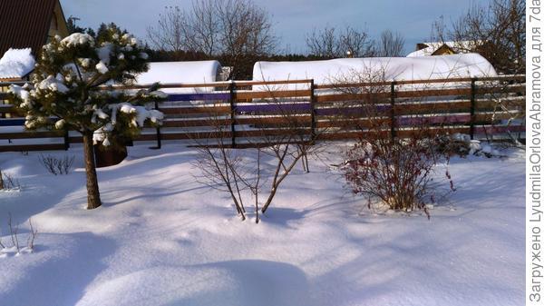Снежок нападал на прошлой неделе.