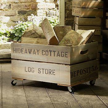 Ящик для дров. Фото с сайта http://www.notonthehighstreet.com/