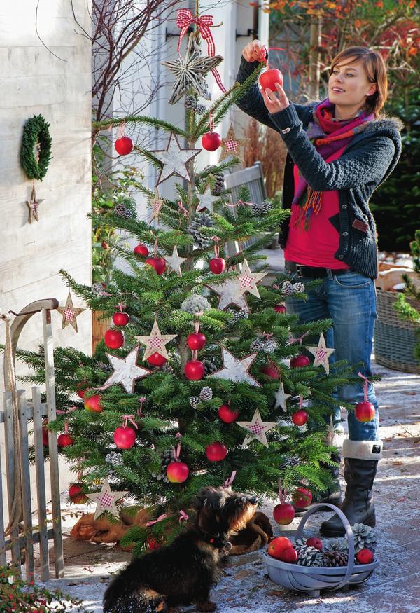 Новогодняя елка на террасе