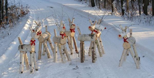 Стадо березовых оленей. Фото с сайта rusticwoodworking.com