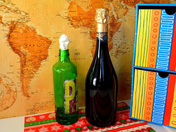 Бутылка отмыта и обезжирена растворителем