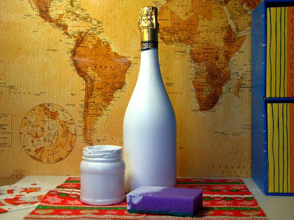 Бутылка после покраски