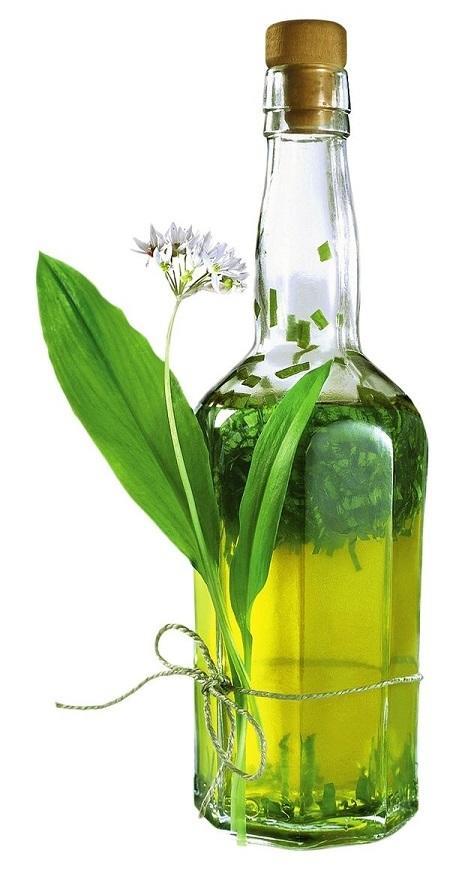 Ароматное растительное масло с черемшой