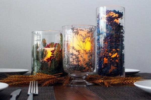 Осенние подсвечники с сухоцветами. Фото: http://pixel.brit.co
