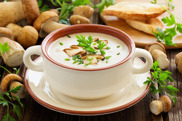 Грибной крем-суп со сливками