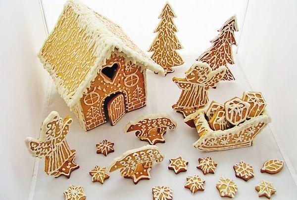 Пряничный домик. Фото: журнал Crafty