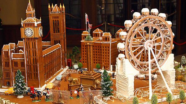 Пряничное здание британского парламента и других достопримечательностей Лондона. Фото с сайта http://timefortheholidays.net