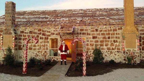 Самый большой в мире пряничный дом-2013. Фото с сайта http://www.gizmag.com