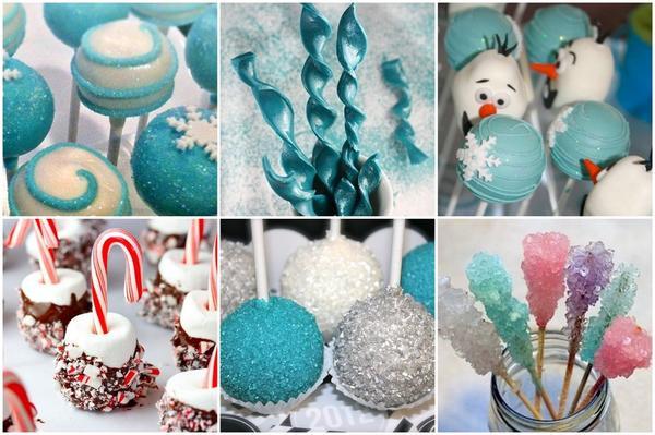 Снежки и сосульки. Фото: jewitup.com, catchmyparty.com, craftgawker.com, sprinklebakes.com, spaceshipsandlaserbeams.com