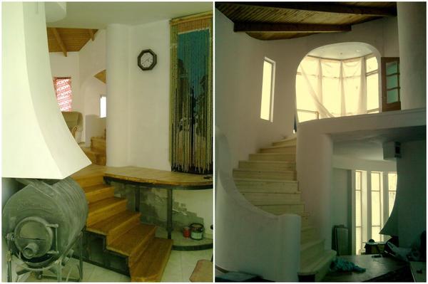 Вход и лестница на второй этаж