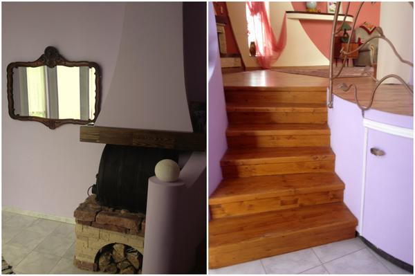 Вид на печь и лестницу